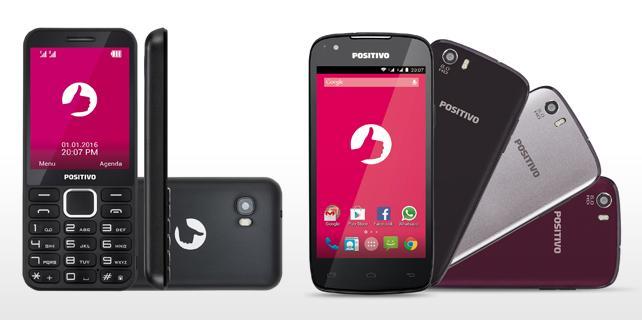 Smartphone e celular da Positivo
